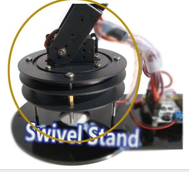 Aluminium 2 DOF PTZ Turntable Swivel Base Alloy Robot Base Kit Set for Arduino