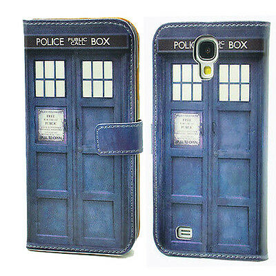 Doctor Who Tardis Leather Wallet Card Case Stand For Samsung Galaxy S4 IV I9500