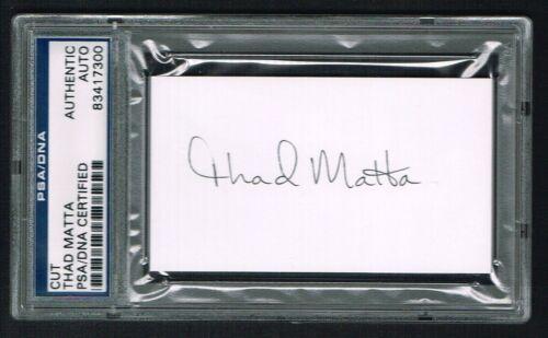 Thad Matta Autographe Signé 2x3.5 Coupe Ohio State Basketball Coach PSA Slabbed