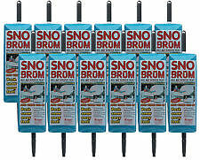 "12  pk Sno Brum Snow Broom Snow Rake 27/""-46/"" telescope handle"