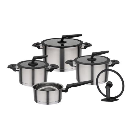 Gsw utensilios apart 4 piezas inducción con tapa soporte