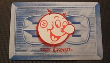 Mid Modern Swap Playing Card-Reddy Kilowatt Your Electric Servant-Blue Outlet