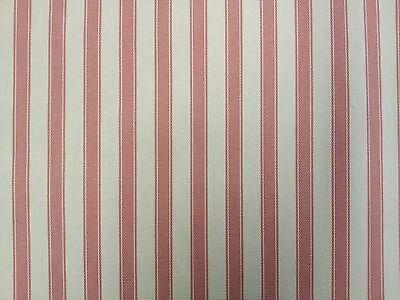 Ticking Stripe 100% COTTON FABRIC Designer Curtain Upholstery Craft Fabric