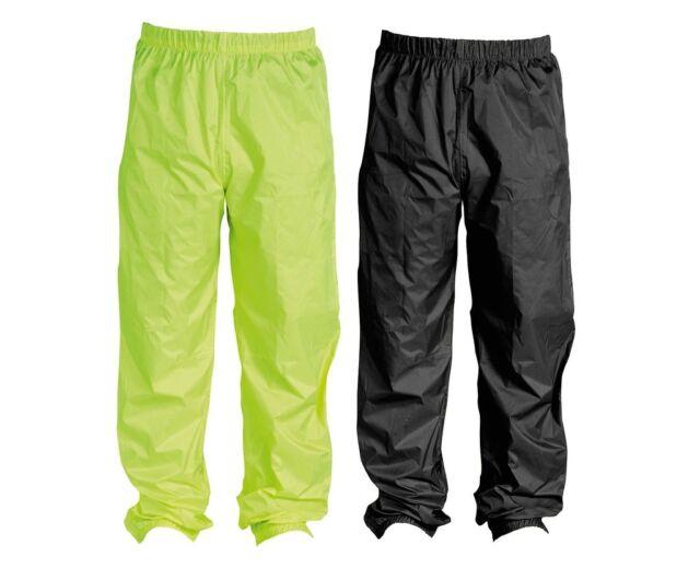 GENUINE Triumph Mens Rain Waterproof Over Trousers - Fluro Yellow - BRAND NEW