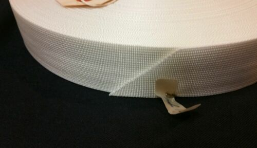 """Blanc Nylon Sangle Militaire 1.5/"""" Grade 70 Yard Roll 1500 Lb Rated 1 rouleau environ 680.39 kg"""