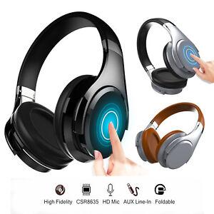 Bluetooth-Stereo-Sound-Headphones-Headband-Earcups-Foldable-Over-Ear-Earphones
