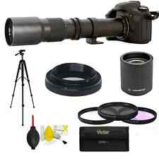 500mm 1000mm f/8.0 Telephoto Lens For Canon EOS 7D 70D Rebel SL1 T3i T5 T5i T6