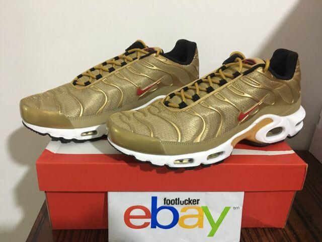 Entretener tímido casamentero  Size 9.5 - Nike Air Max Plus QS Metallic Gold for sale online | eBay