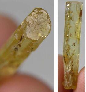 #7 Cambodia Natural Rough RawTerminated Heliodor Crystal Stick Specimen 5.70Ct