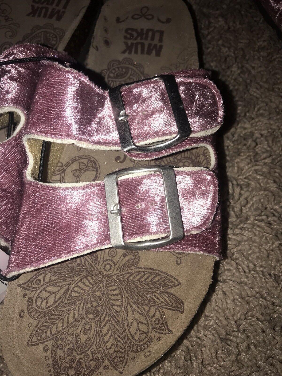 NWT Women's MukLuks Sandals Pink Velvet w/ 6,7,8,9 Memory Foam Insoles Size 6,7,8,9 w/ 46c512