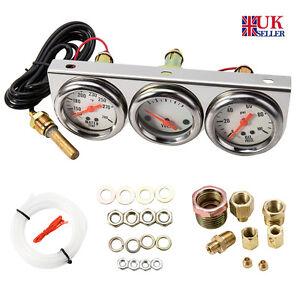 Car-Gauge-Voltmeter-Water-Temp-Oil-Pressure-gauge-Sensor-Triple-Kit-3in1-az