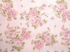 0,5 m Rosen Ökotex ♥ Stoff Baumwolle rosa grün Röschen Landhaus Ökotex Standard