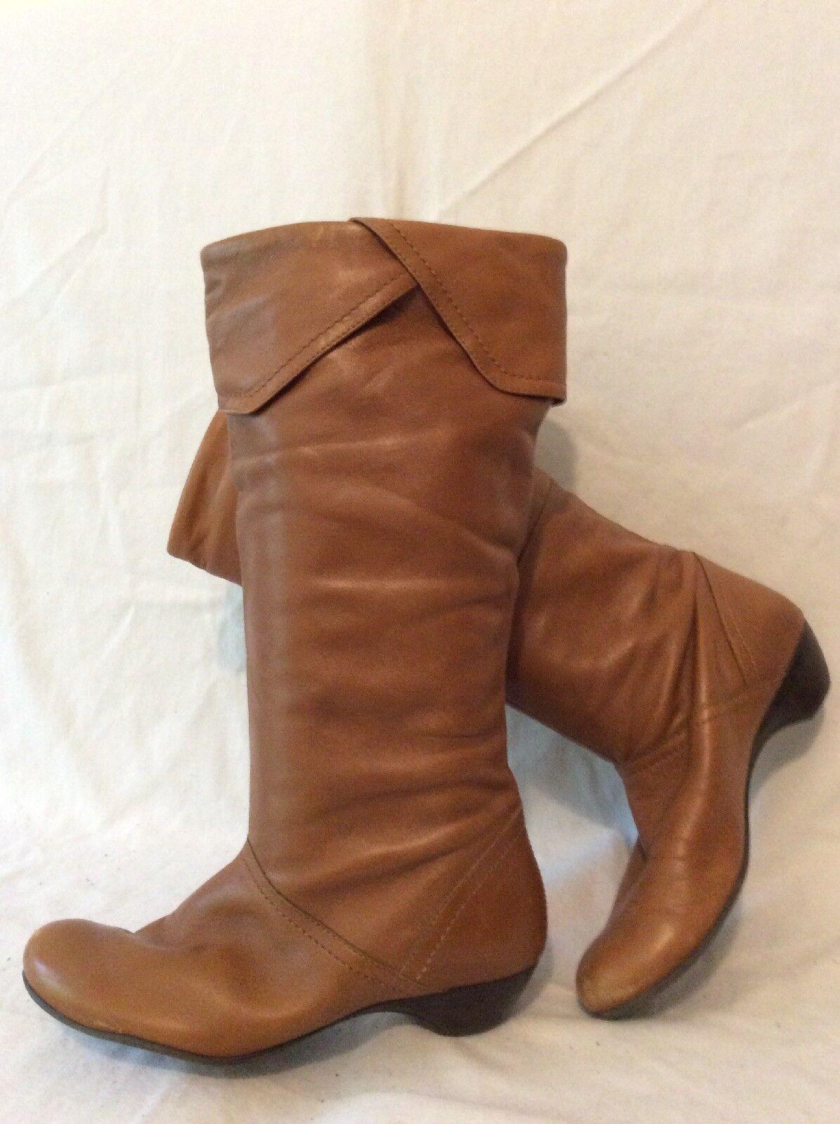 Jones Bootmaker Brown Knee High Leather Boots Size 37