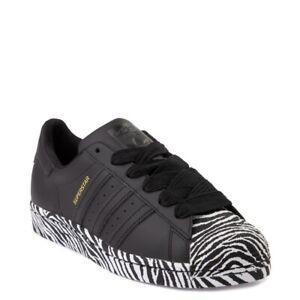 Details about New adidas Superstar Shoe Black Zebra WOMENS Classics Originals