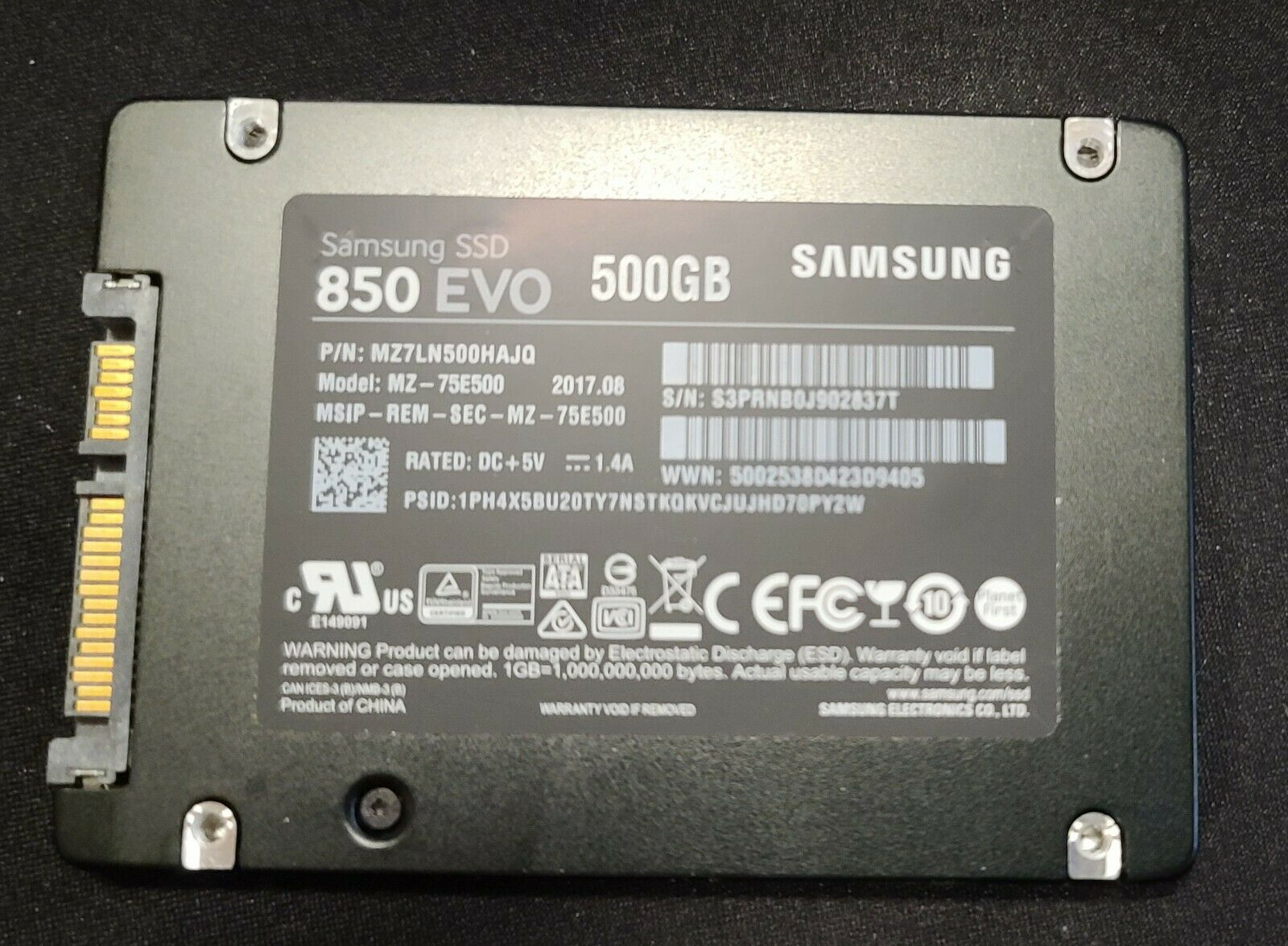 Samsung 850 EVO 500 GB Internal Solid State Drive. Buy it now for 49.95