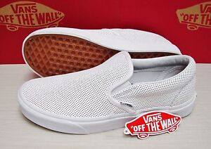 9c2e78c1eeb Image is loading Vans-Classic-Slip-On-Perf-Leather-White-Women-