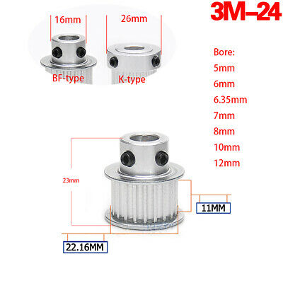 3M Timing Pulley 22T 6mm Bore for Stepper Motor 3D Printer 11mm Width HTD