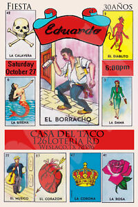 photo regarding Printable Loteria Mexicana identified as Facts above Loteria Mexicana Custom made Electronic Invitation(Yourself PRINT)
