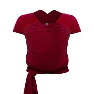 Izmi-Bamboo-Baby-Wrap-Red-Hands-Free-Carrying-Suitable-For-Newborns