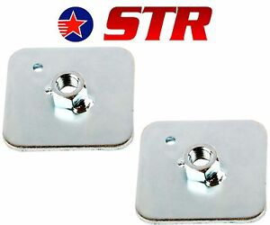 Racing-Harness-Seat-Belt-Mounting-Back-Plate-Backing-Eyelet-Plates-x2-Pieces