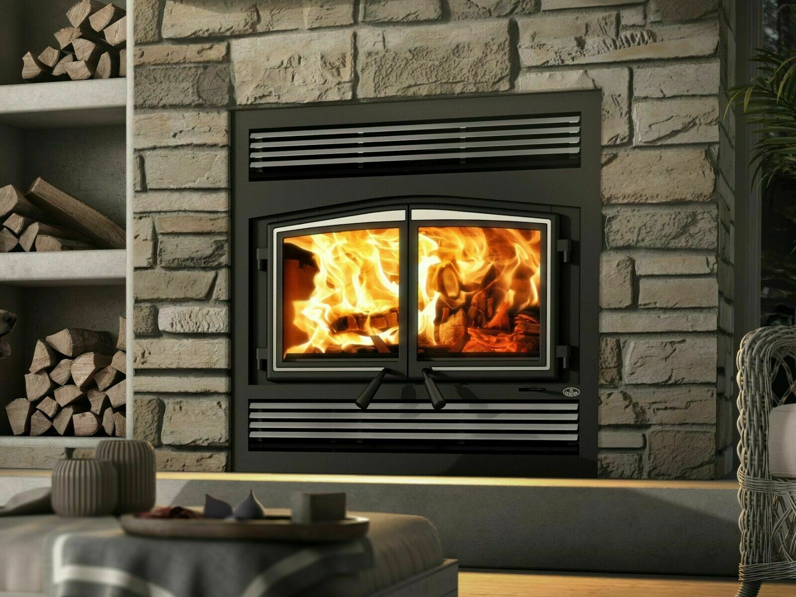 Osburn Stratford Wood Burning Zc Fireplace With Blower And Cast