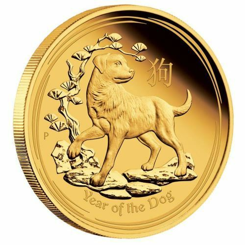 2018 Australian Lunar Year of the dog 1//10 oz Gold Proof $15 Coin Australia