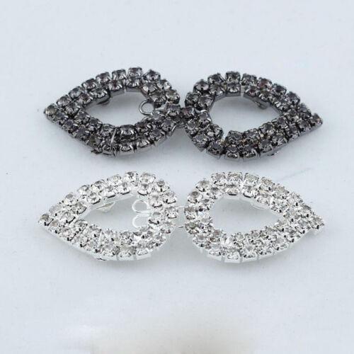 1pc Sew On Button Rhinestone Crystal Hook And Eye Clasp Wedding Dress Coat Decor