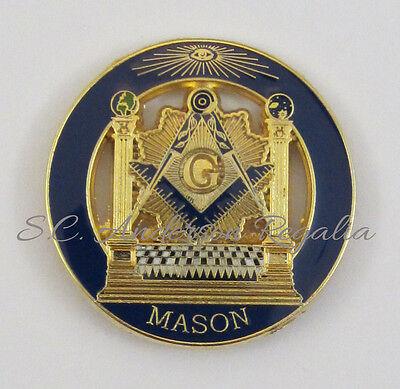 Masonic Blue Lodge Pillars Lapel Pin Mason Freemason