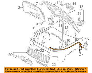 audi oem 96 09 a4 quattro hood release cable grommet 8d0823591a ebay rh ebay com Audi Body Diagram Audi Body Diagram