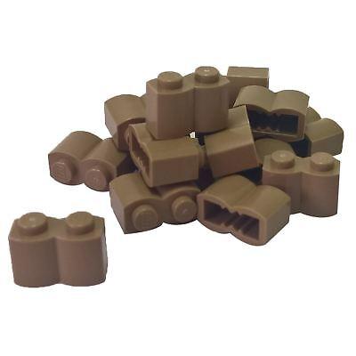 Lego 100 New Dark Brown Bricks Modified 1 x 2 Log Pieces