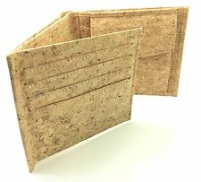 Men's Natural Portuguese Cork Wallet 8 Card Slots, Coin Pouch ( Vegan Suitable )
