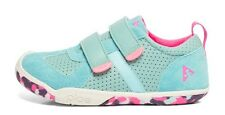 Natural Turquoise LEATHER Flexible  Girls Sneaker/Shoes  Youth Girls Size 12
