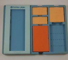 Vintage Tomy Fashion Plates Retro Clothing Fashion Design 80s Blue Tray 1987