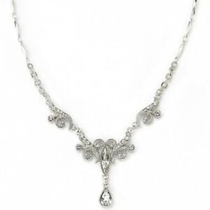 1928 jewelry company bridal crystal fancy drop necklace for Drop shipping jewelry business
