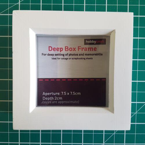 "7.5x7.5cm Confezione da 10 x HOBBYCRAFT//Innova Editions 3x3/"" Bianco Profondo BOX FRAME"