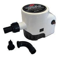 Johnson Ultima Automatic Bilge Pump 600 Gph With 3/4 Hose Dura Port 12v 2.5a