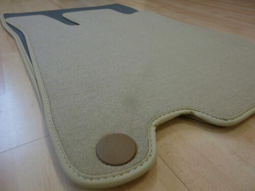 BEIGE $$$ Velours Fußmatten passend für Mercedes Benz SL R230 Nubuk NEU
