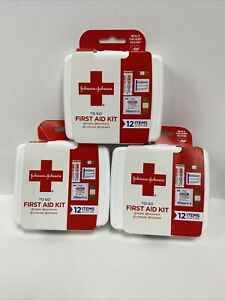 JOHNSON & JOHNSON First Aid to Go Kit 12pc (Pack of 3)