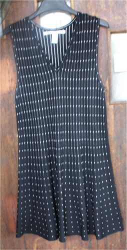 Max Studio WHITE  & Black Stretch Knit Dress Sz XL