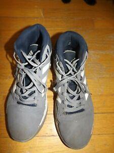Adidas Cloudfoam para hombre Gris/Azul Zapatos De Gamuza De ...