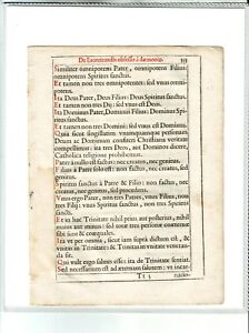 Details about 1611 MEDIEVAL LEAF FROM LATIN RITUALE ROMANUM WITH COA -  EXORCISM RITUAL