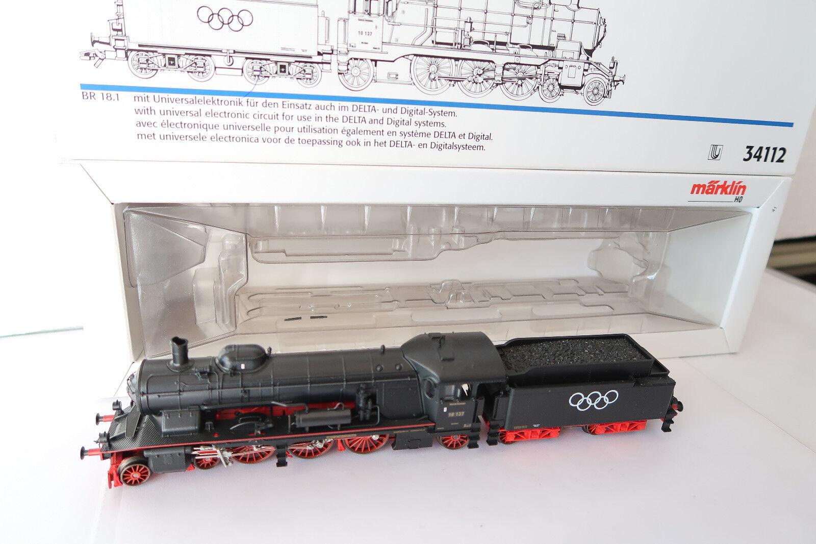 Digital   HO/AC 34112 a Vapore Locomotiva Br 18137 DRG OLYMPIA 1936  ac/011-35s11/3