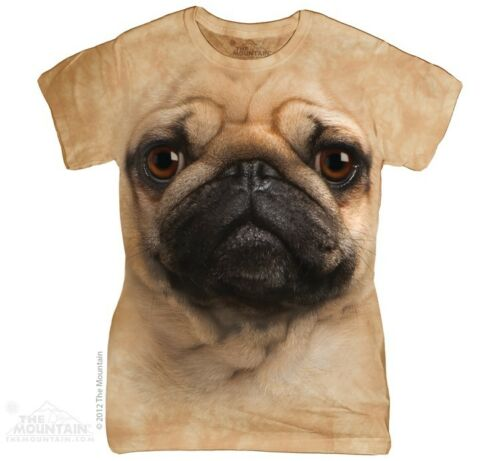 New The Mountain Pug Face Womens T Shirt