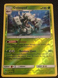 Pokemon GOLISOPOD 9//145 RARE REVERSE HOLOFOIL MINT CARD