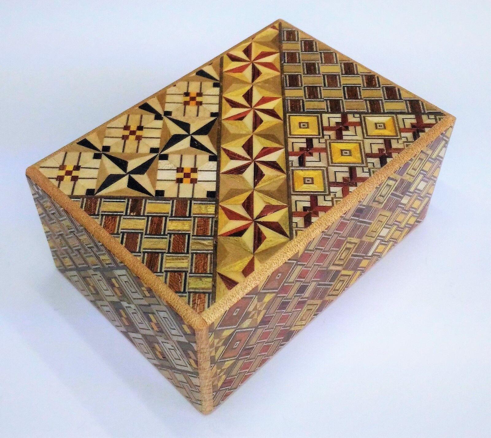 14 Mal 4 sun Japanisch HolzMosaik puzzlebox handgefertigt Hergestellt in Japan