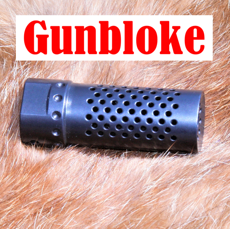 Muzzle brake H1-Multiport 1/2x28- Ruger, Howa Savage Weatherby GUNBLOKE,