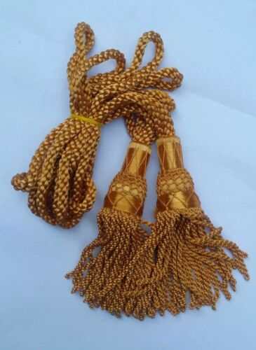 CC Scottish Great Highland Bagpipe Silk Cord Golden//Bagpipes Drone Silk Cords