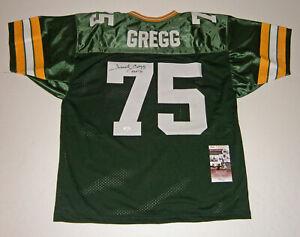 PACKERS-Forrest-Gregg-signed-custom-jersey-w-HOF-77-JSA-COA-Autograph-Green-Bay