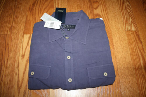 NWT NAT NAST Luxury Originals Silk Shirt Black Green Blue Purple M L XL 2XL