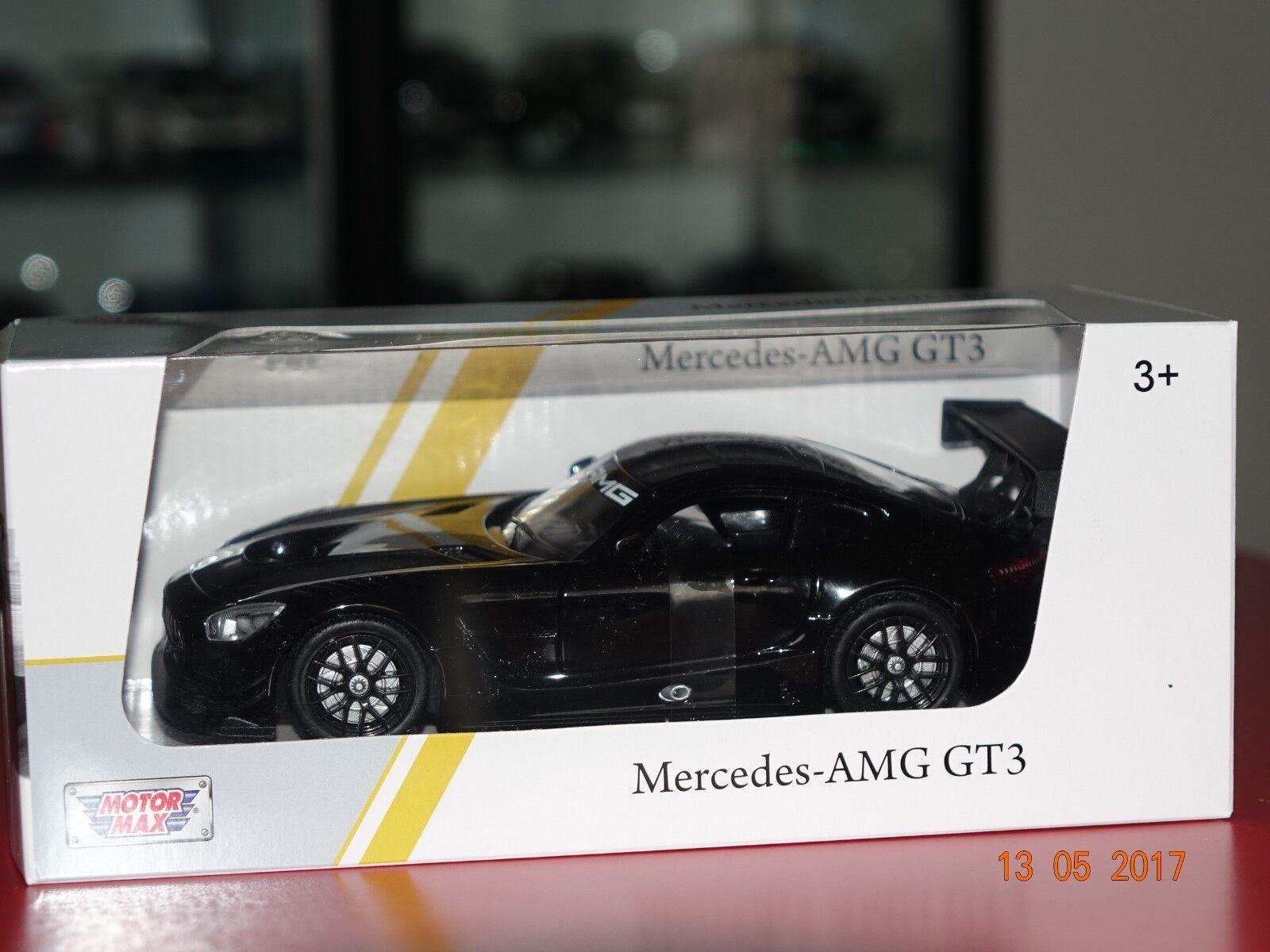 Mercedes AMG GT3 black 1 24 Motormax 73386bk neu & OVP